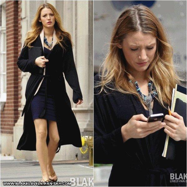 03.09 - Blake sur le tournage de Gossip Girl