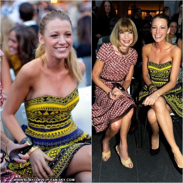 07.09 - Blake s'est rendue hier à la Fashion's Night Out