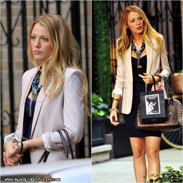 08.09 - Blake a été aperçue sur le tournage de Gossip Girl