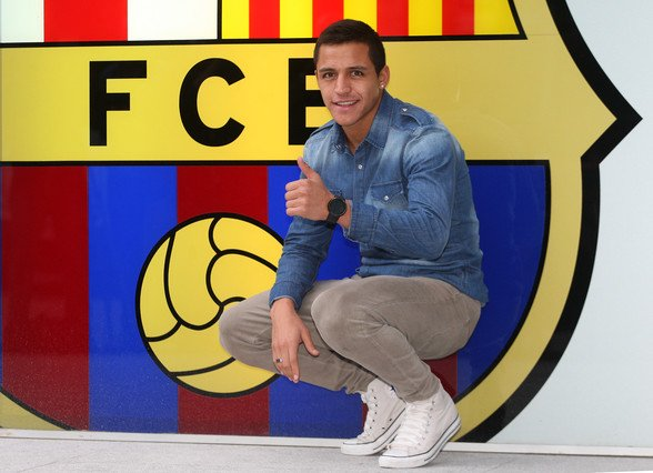 Alexis Sanchez première recrue du Barça!!!!!