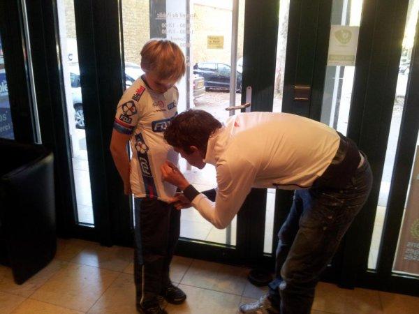 Lundi 24 septembre 2012, Thibaut était l'invité de la matinale de France Bleue Besançon
