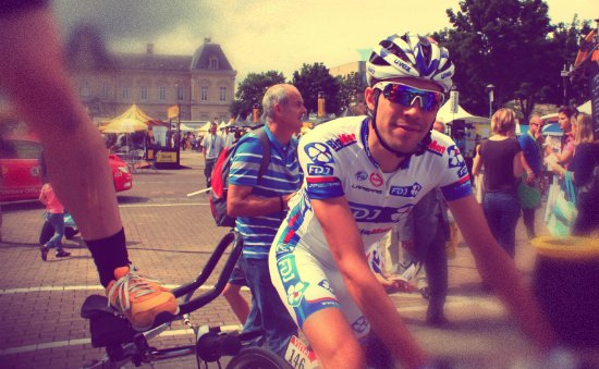 Interview de Thibaut datant du 6 juillet 2012 (6e étape du Tour 2012)