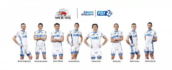 Equipe FDJ pour le tour de Suisse