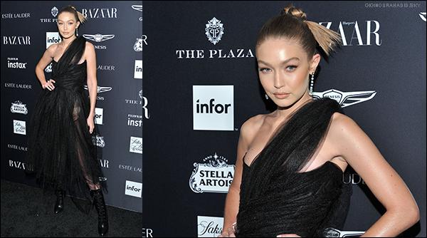 .   07/09/2018 - Gigi était présente à la soirée « Harper's Bazaar Icons 2018 » à New-York. .