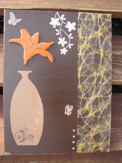 vase orange