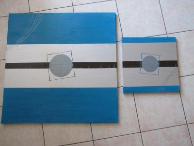 duo turquoise/marron/argent