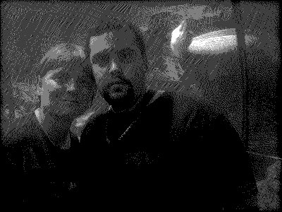 Ma mère et moi a l'aquarium de Barcelone (photo de ma femme je t'aime fort mon coeur (l))