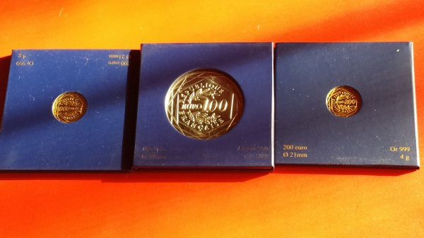 3 belles pieces  en euro