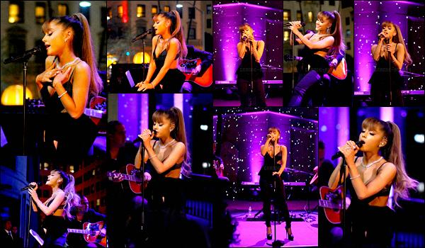 . 13/10/16 ─ Ariana Grande à chanté pour la réouverture du magasin  « Tiffany & Co » à Beverly Hills(CA). Ari porte une tenue vraiment classe, je suis absolument fan. Elle est tout simplement magnifique. + Les photos des backstage ci dessous.  .