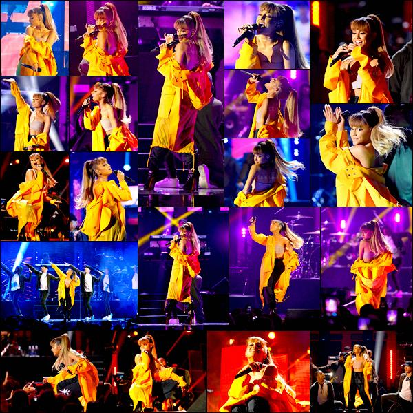 . 24/09/16 ─ Ariana à chanté sur la scène du « iHeartRadio Music Festival » dans la ville de Las Vegas. Miss Grande a  chanté plusieurs titres : Be alright, Side to side, Dangerous' Woman, Into you ainsi que Break Free avec Zedd. Le live ici .