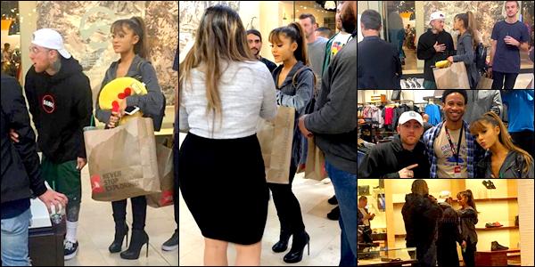 . 14/10/16 ─ Ari' à été reperée faisant du shopping en companie de Mac à Charlotte en Caroline du Nord! Ariana et Mac sont juste adorables! Pour moi c'est un Top malgrès le nombre très limité de photos! Ils vont juste super bien ensemble!  .