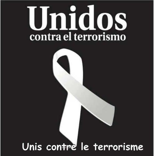J'exprime toute ma solidarité avec le peuple Espagnol ,mes pensées iront tout particulièrement aux victimes ainsi qu'à leurs familles . Maryse