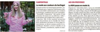 Capucine Ackermann crée la première tenue estampillée Carpentras