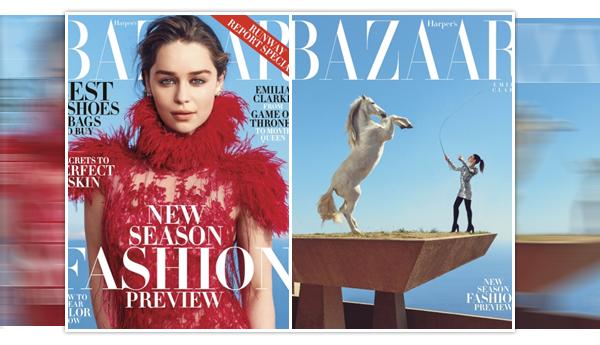 - PHOTOSHOOT ________________________________________Harper's Bazaar  Encore un nouveau photoshoot pour Emilia ! Cette fois-ci, la miss fait la couverture du célèbre magazine Harper's Bazaar, et a donné une longue interview inédite. Les photos sont très spéciales, mais les costumes et les poses sont vraiment magnifiques ! Qu'en pensez-vous ?