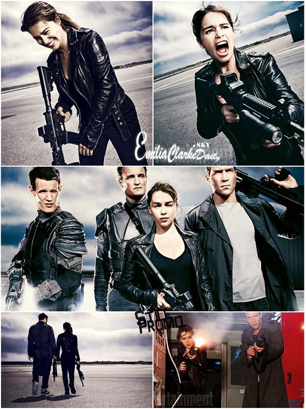 - TERMINATOR GENESIS : Photos Promo_________Terminator First Stills & Entertainment Weekly Shoot On l'attendait et enfin notre patience est récompensée : Découvrez toute une panoplie de nouvelles photos du nouveau film d'Emilia, dans la fameuse suite de Terminator, grâce à Entertainment Weekly qui a eu l'exclusivité de ces premières photos. Nous pouvons enfin avoir un VRAI aperçu de son rôle dans le film qui a l'air ... Explosif ! Nous découvrons encore une nouvelle facette de la belle, bien que son visage paraisse fatigué et un peu trop retouché ... Qu'en pensez-vous ?