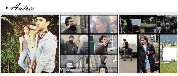 """- TOURNAGE : 15.05.15 _________________________________'Me Before You' Set Le tournage continue et nous avons encore toute une panoplie de nouvelles photos prises sur le set du nouveau film d'Emilia """"Me Before You"""" ! C'est en compagnie de Matthew Lewis (Neville Londubat) qu'elle a été photographiée en ce 15 Mai pour tourner des scènes ensemble. Coup de coeur pour ces photos ! Les tenues d'Emilia sont très originales, mais ce style lui va bien, ça change !"""