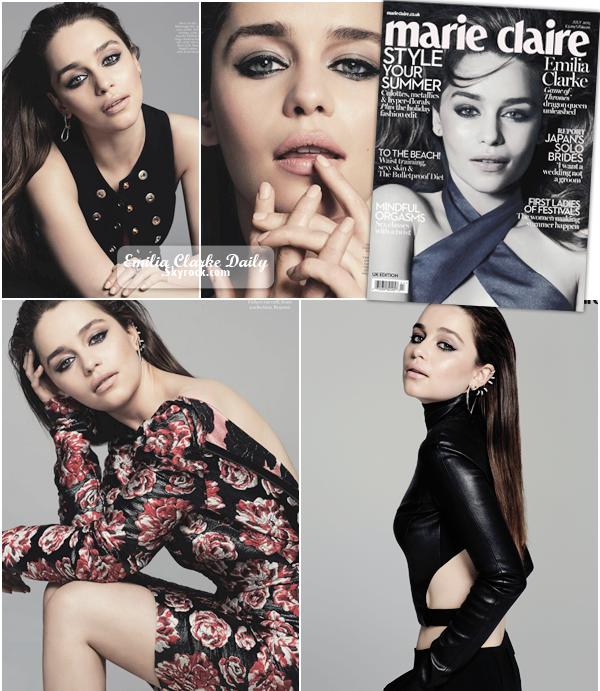 - PHOTOSHOOT ________________________________________Marie Claire Décidément, Emilia ne s'arrête plus ! Découvrez encore un nouveau photoshoot de la belle cette fois pour le magazine Marie Claire ! Entre la promo de GOT et de Terminator, Emilia enchaine les photoshoots. Des photos et des tenues très rock, ça change, et ce style lui va finalement vraiment bien ! Vos avis ?