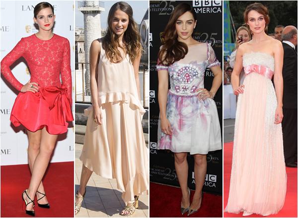 Parmi ces 4 actrices, qui porte le mieux le bleu, le noir, le blanc, le rouge, le vert et le rose ? Votez pour vos tenues préférées !   Article en collaboration avec  aliciavikander,watson-emmaetknightley-christinakeira !