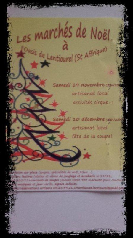 Marché de Noël l'Oasis de Lentiourel (St Affrique)