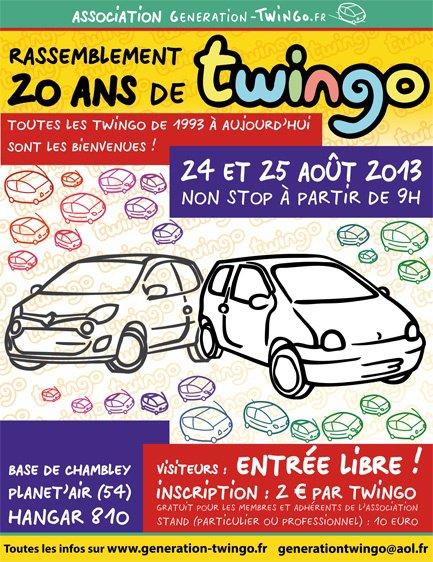 Rassemblement des 20 ans de Twingo !