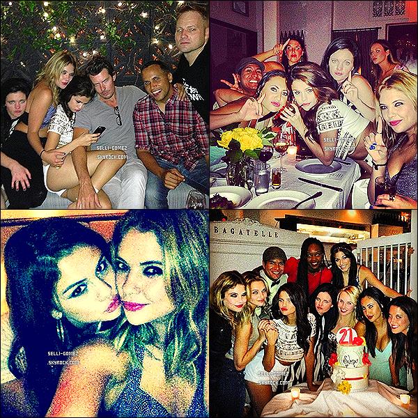 Découvrez des photos postées pendant l'anniversaire de la belle Selena Gomez, ce 22 juillet.