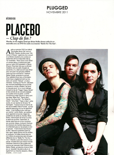 Interview de PLACEBO