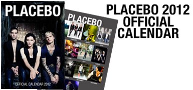 Placebo vous propose son calendrier 2012 !