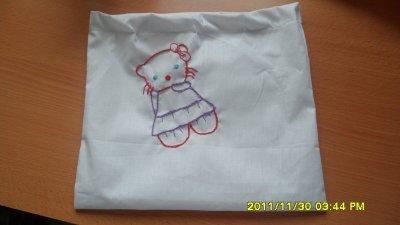 broderie pour sac à linge bébé (hopital)