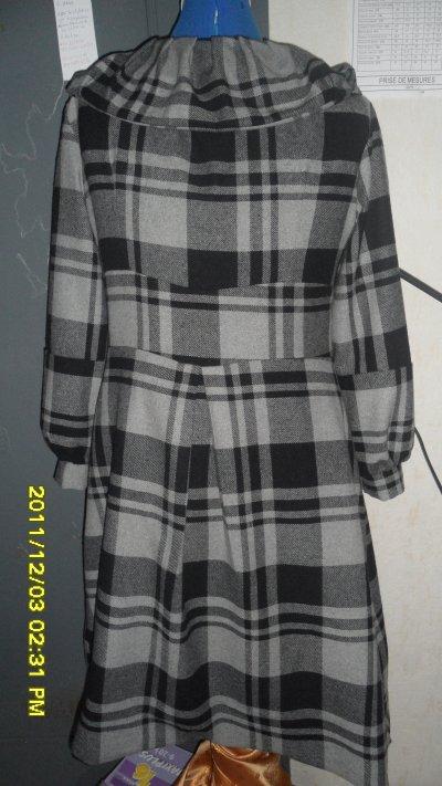 realisation de manteau a careaux