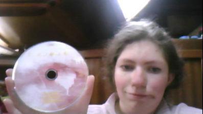 Moi  avec les cd de Lorie