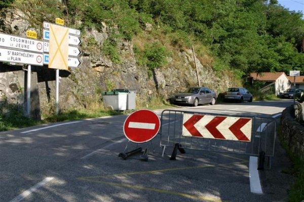 la route de Lamastre est fermée
