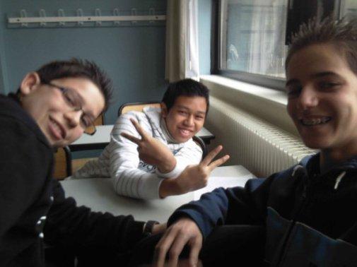 En perme avec Louis (gauche) et Jordan (droite)