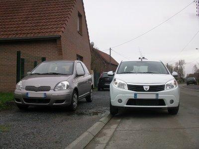 Pour commencer, la voici avec ma précédente voiture...