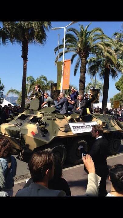 """★ Festival de Cannes ( 2014 ) ★  Stallone, Schwarzenegger et Harrison Ford présentent """"Expendables 3"""""""