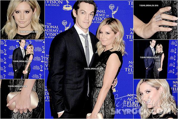 . 18.06.14 EVENTS Ash et son fiancé s'est rendu  au gala de  Daytime Creative Arts Emmy Awards 2014 à LA. .