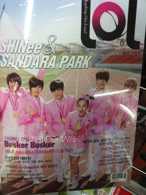 {PHOTO} 120614 | SHINee et Dara en couverture du magazine LOL ✰彡