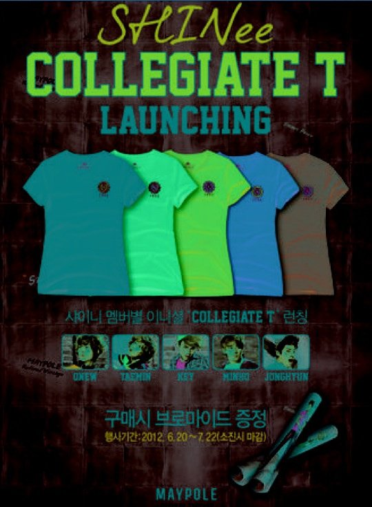 {PHOTO} 120614 | Tee-shirt Maypole 'SHINee COLLEGIATE T Launching' ✰彡