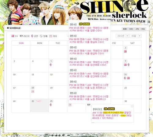 {SITE OFFICIEL} 120625 | Update de l'emploi du temps ✰彡