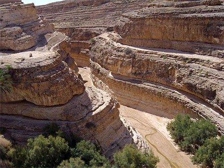 canyon de tozeur en tunisie