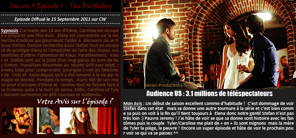 > Article n°? : The Vampire Diaries - Saison 3 - Episodes