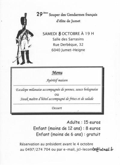 AFFICHE DU SOUPER DU 09/10/2011