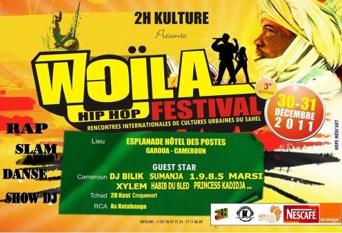 COMMUNIQUE DE PRESSE: Festival Woïla Hip Hop  Du 30 au 31 décembre 2011 Garoua