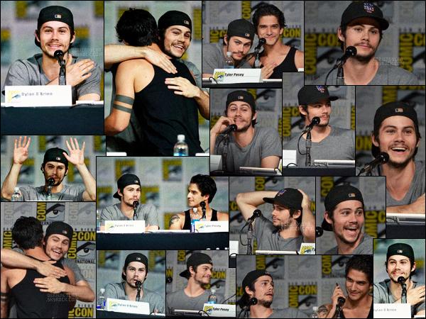 09/07/15 Dylan O'brien était au Comic-Con annuel, avec le reste du cast de Teen Wolf - dans San Diego. D'autres acteurs de la série étaient présent pour ce premier jour du comic-con comme la belle Holland Roden ou encore Tyler Posey