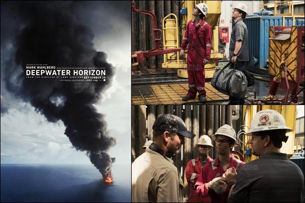 •• Affiche et still promotionnels pour le film « Deepwater Horizon » qui sort le 30/09 aux EU !