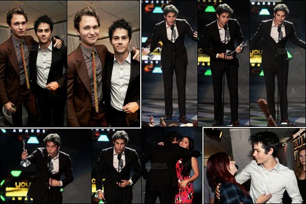 """27/07/14 Dylan O'brien était à la cérémonie des Young Hollywood Awards qui s'est déroulée à Los Angeles.  Pas de photos de tapis rouge pour Dylan, dommage! Par contre il a gagné le prix """"Breakthrough Actor"""", donc de la révélation masculine."""