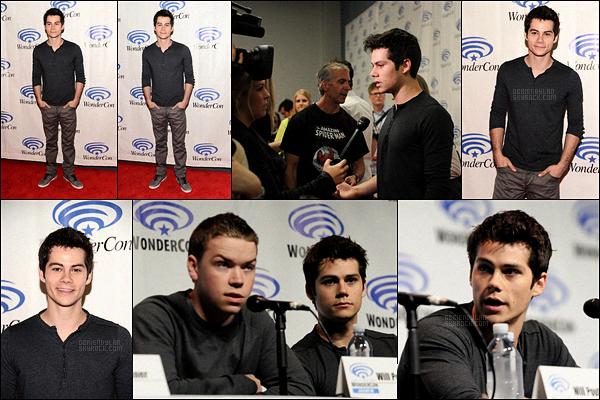 19/04/14 Dylan O'brien s'est rendu à la  « Wondercon» pour son film Le Labyrinthe à Anaheim, en Californie.  Dylan était accompagné du cast pour ce deuxième jour de l'événement ! Très peu de photos ont été mise en ligne malheureusement ...