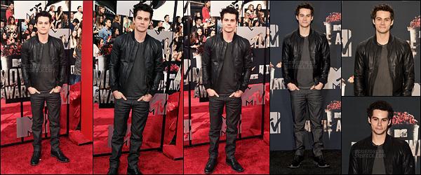 13/04/14 Nous retrouvons l'acteur Dylan O'brien aux MTV Movie Awards dans Los Angeles, - en Californie.  Dylan n'a pas gagné de récompense, mais c'était sa toute première apparition publique de 2014, de quoi nous réconforter tout de même.