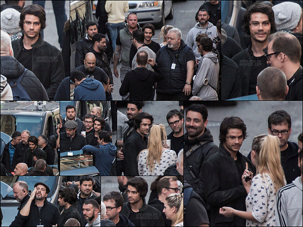 """22/11/16 Dylan O'brien a été photographié sur le set du film « American Assassin » dans Rome, en Italie. Je tiens à féliciter notre Dylan pour ce PREMIER """"candid"""" de l'année, c'était pas trop tôt.. Pour le reste, il est toujours au top et joyeux !"""