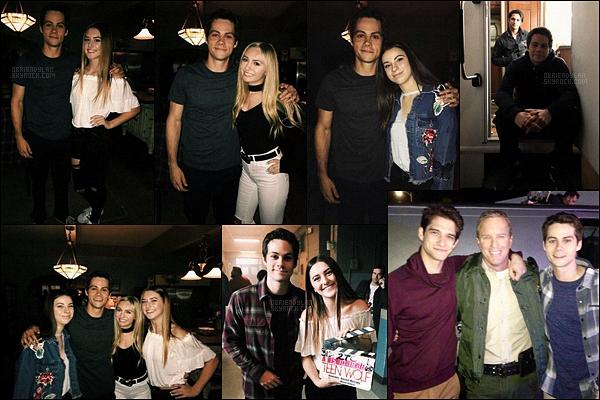 •• Diverses photos à divers moments ont été prises de Dylan sur le tournage de  Teen Wolf S.6 !