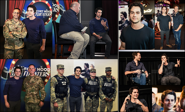 16/08/17 Dylan O'brien s'est rendu à la projection d'American Assassin à la base militaire de  Fort Hood, TX. Dylan O'brien s'est rendu à l'avant première d'American Assassin au cinéma Alamo Drafthouse. Notre beau brun était souriant, top